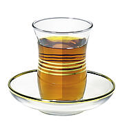 Glass saucer for turkish tea glass